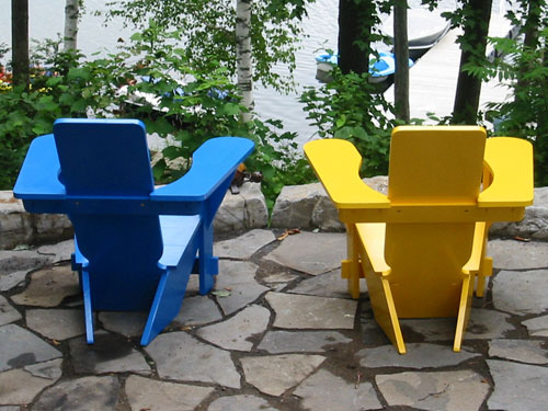Blue and Yellow Westport Chairs