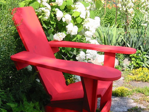 Westport Chair in the Garden