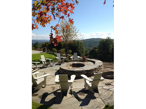Classic Westport Chairs around a gorgeous fire pit