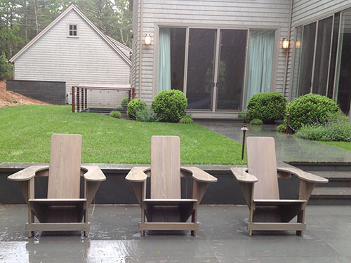 Classic Westport Chairs On Rainy Long Island