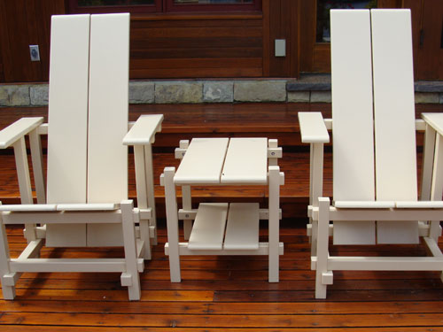 Cream Coloured Garden Chairs