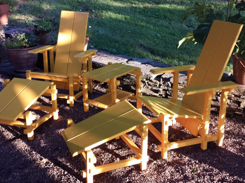 Groovy Rietveld Inspired Garden Chairs Dailytribune Chair Design For Home Dailytribuneorg
