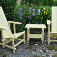 Rietveld Inspired Garden Chairs