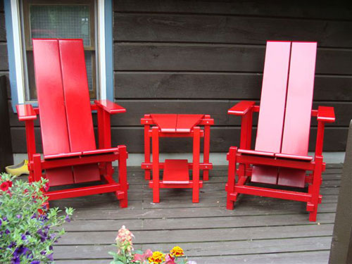 Conversation Table for Garden Chairs – very Rietveld