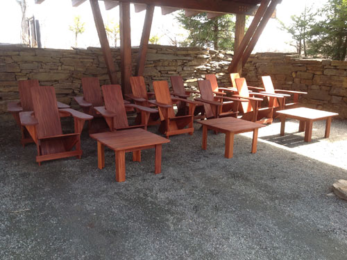 Mahogany Westports awaiting placement at Twin Farms, Vermont