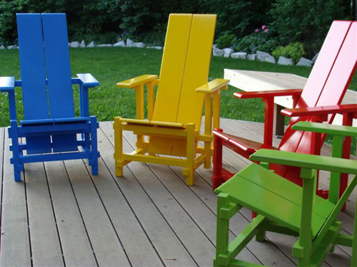 Rainbow of Garden Chairs