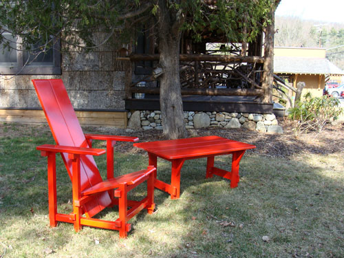 Red Garden Chairs in Keene NY