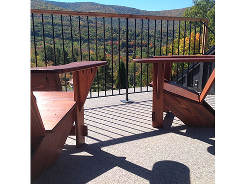 Stained Westport Chairs, Scribner's Catskill Lodge, Hunter, NY