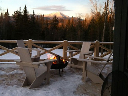 Westport Chairs with a view of Whiteface Mtn