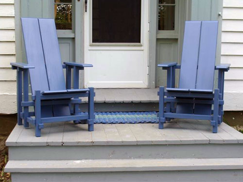 Blue Garden Chairs