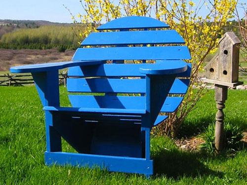Dark Blue Lodge Chair