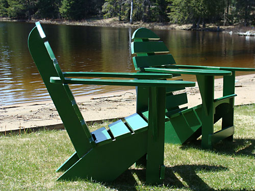 Dark Green Lodge Chair