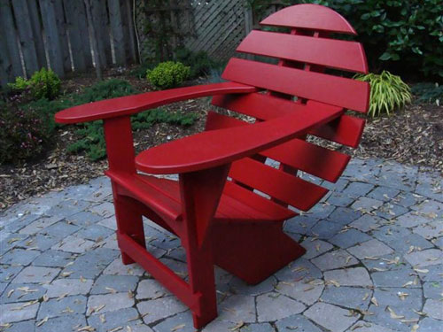 Deep Red Lodge Chair