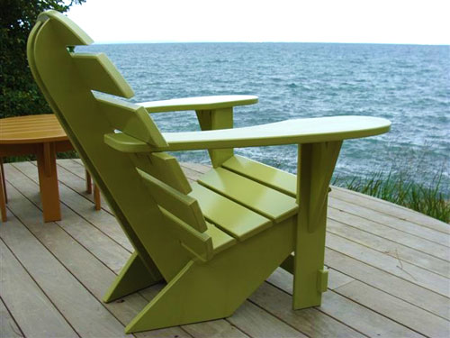 Lime Green Lodge Chair